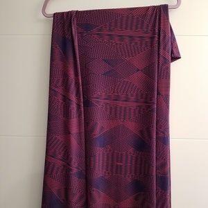 Lularoe abstract maxi skirt
